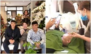 Đức Chinh và Bùi Tiến Dũng đi 'tút tát nhan sắc' sau chức vô địch