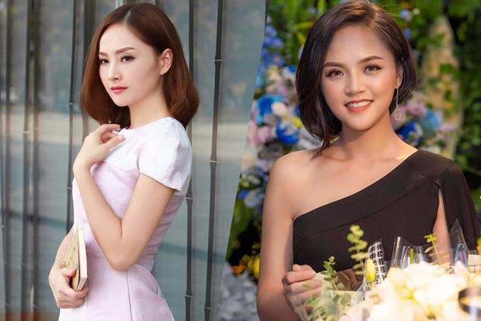 Lan Phương (trái) và Thu Quỳnh - hai đề cử của hạng mục Ngôi sao Phim ảnh.