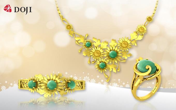 Vẻ đẹp lấp lánh của chất liệu vàng 24K mang đến sự quý phái khi kết hợp cùng thiết kế đậm hơi thở thiên nhiên.