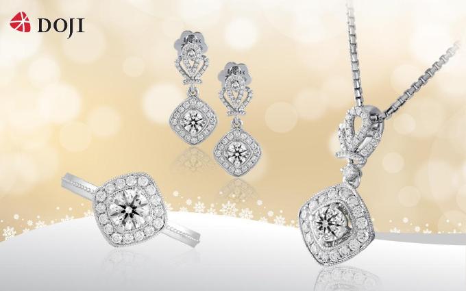 Chất liệu độc đáo với kim cương 8 Hearts & 8 Arrows phản chiếu ánh sáng hình 8 trái tim và 8 mũi tên, kết hợp họa tiết vương miện cầu kỳ, sang trọng sẽ là món quà lấp lánh dành tặng nàng mùa Giáng sinh.
