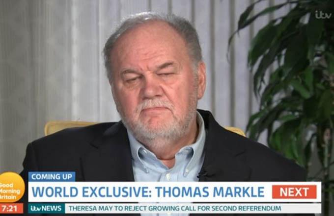Ông Thomas trong chương tringh Good Morning Britain sáng 17/12. Ảnh: ITV.