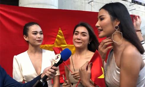 Hoàng Thùy phấn khích khi báo Thái Lan hỏi về thành tích của H'Hen Niê