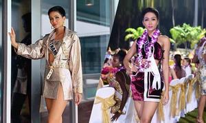 'Bí kíp' khoe chân dài của H'Hen Niê tại Miss Universe