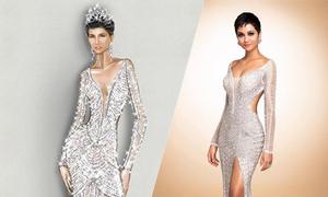 Váy đính 3.000 viên đá quý của H'Hen Niê tại chung kết Miss Universe