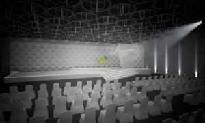 Sân khấu trao giải Ngôi sao của năm làm từ 500 thùng carton