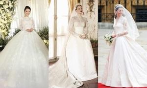 Váy cưới của sao lấy cảm hứng từ đầm Grace Kelly