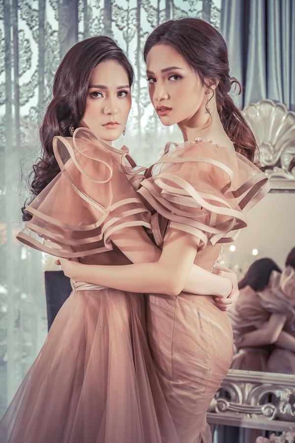 Hương Giang, Băng Di đọ dáng với váy họa tiết 3D - 5