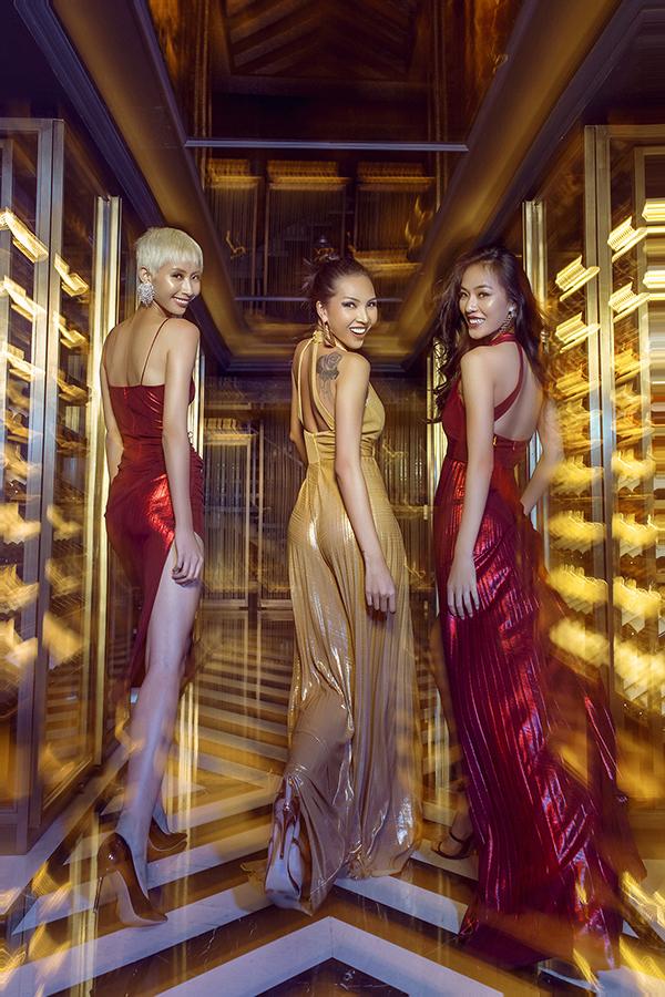Qua các mẫu trang phục của mình, Katy Nguyễn muốn xây dựng hình ảnh các cô gái phóng khoáng, gợi cảm, rực rỡ những nữ hoàng của ánh đèn, âm nhạc và màn đêm.