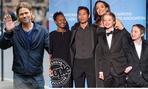 Brad Pitt hạnh phúc đón tuổi 55 bên các con