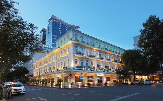 Khách sạn Continental Saigon có không gian sang trọng.