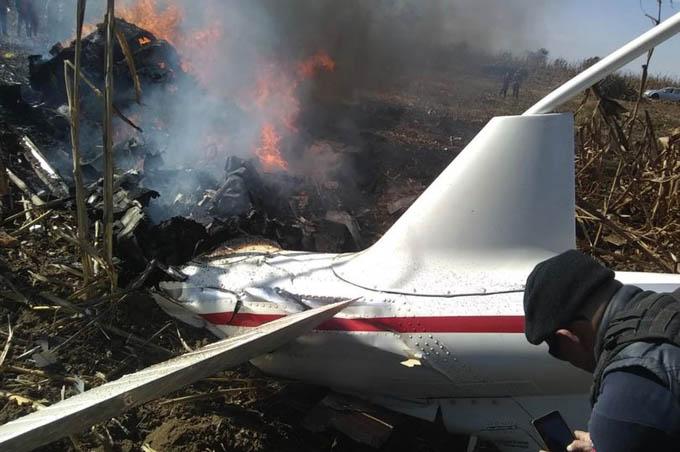 Hiện trường vụ rơi trực thăng tối 24/12. Ảnh: Alejandro Mondragón.