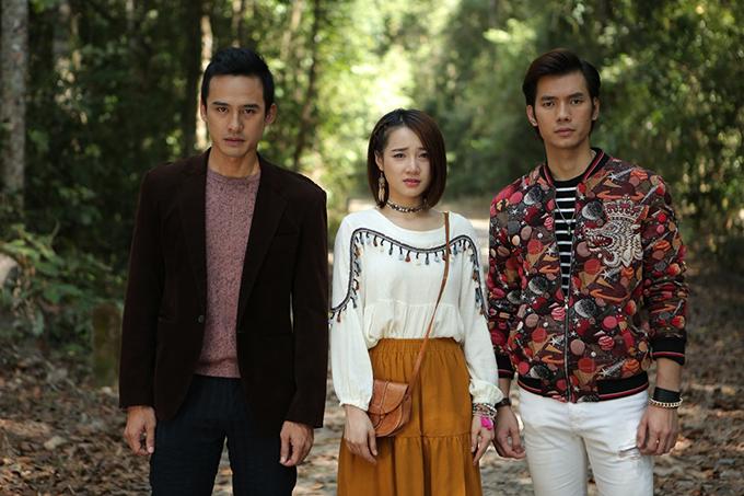 3 diễn viên chính của Ngày ấy mình đã yêu - Lương Thế Thành, Nhã Phương và Nhan Phúc Vinh.