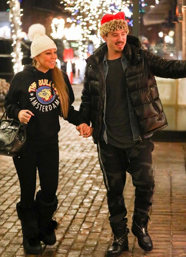 Tới Aspen du lịch dịp Giáng sinh còn có cả bồ trẻ của Mariah là vũ công Bryan Tanaka.