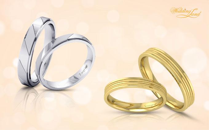 Cặp nhẫn cưới trẻ trung mang phong cách nhẫn đôi sẽ giúp tân lang - tân nương lưu giữ khoảnh khắc tuyệt đẹp của tình yêu và hôn nhân.
