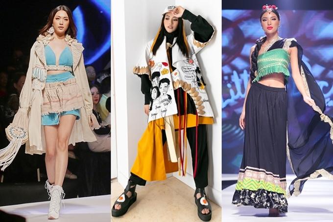 Từ trái quaÁ hậu Lệ Hằng, Miss Earth Phương Khánh, siêu mẫu Khả Trang bày tỏ họ yêu mến ý nghĩa chương trình thời trang dành cho các em nhỏ nên quyết định tham gia biểu diễn. Ba người đẹp biến hóa với nhiều phong cách khác nhau:
