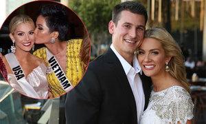 Hoa hậu Mỹ được bạn trai cầu hôn ngay sau chung kết Miss Universe