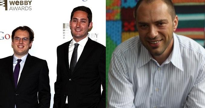 Hai đồng sáng lập Instagram (trái) và CEO Whatsapp Jan Koum - những giám đốc cấp cao mà Facebook mất năm 2018.