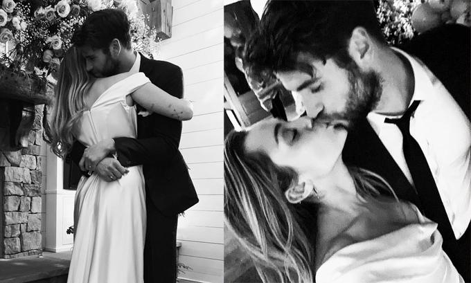 Nữ ca sĩ 26 tuổi hạnh phúc khoác áo cô dâu, chính thức bước sang một trang mới của cuộc đời. Mối tình đẹp với đám cưới lãng mạn của Miley và Liam nhận được sự chúc phúc của cả hai gia đình và đông đảo người hâm mộ.