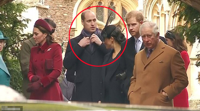 William dường như cố tránh ánh mắt muốn giao tiếp, trò chuyện của Meghan. Ảnh: Reuters.