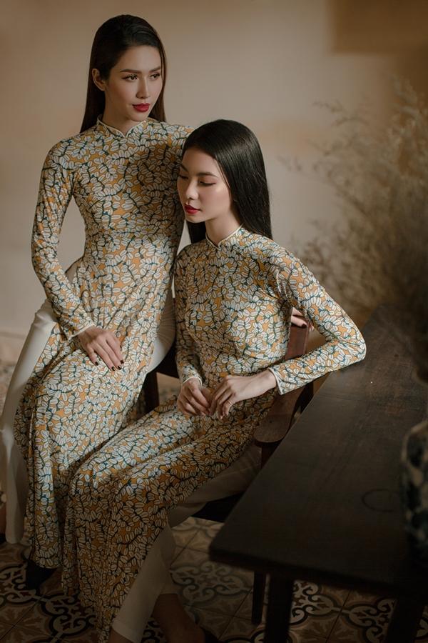 Áo dài in hoạ tiết hoa của nhà thiết kế An Nhiên - 3