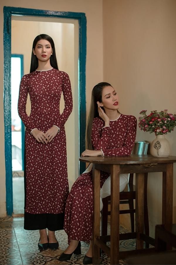 Áo dài in hoạ tiết hoa của nhà thiết kế An Nhiên - 4