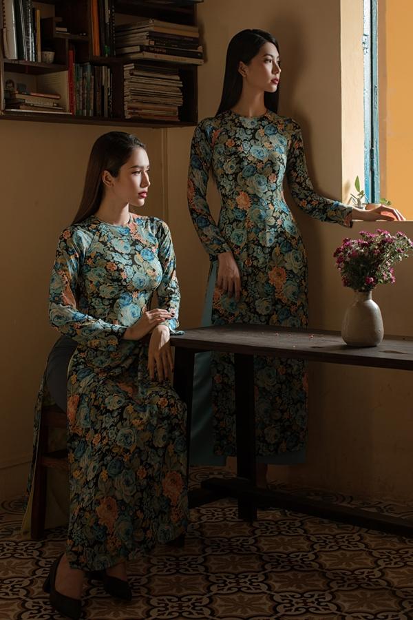 Áo dài in hoạ tiết hoa của nhà thiết kế An Nhiên - 5