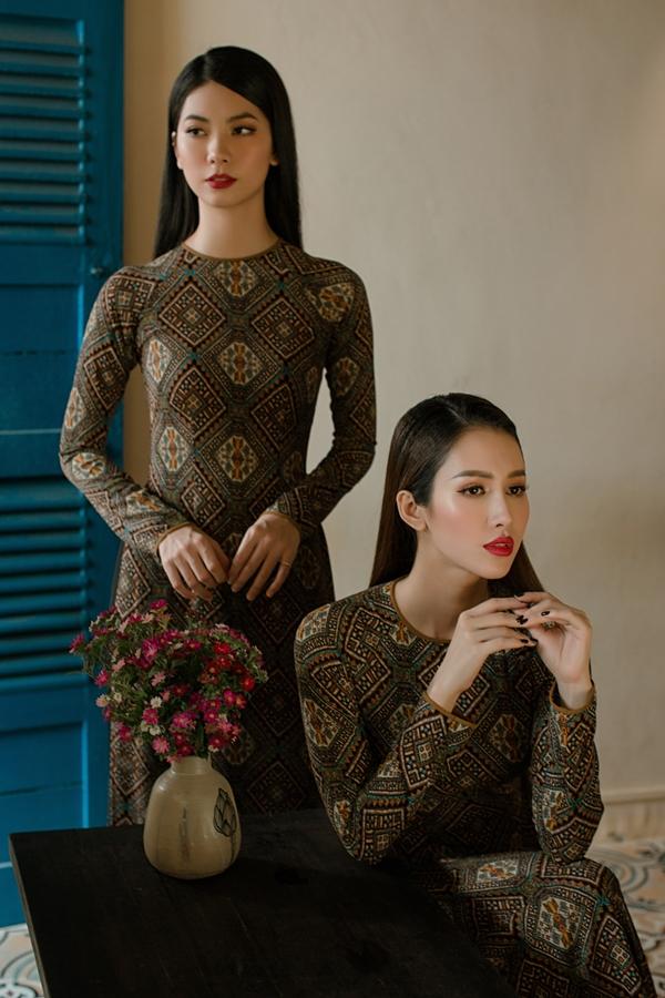 Áo dài in hoạ tiết hoa của nhà thiết kế An Nhiên - 7