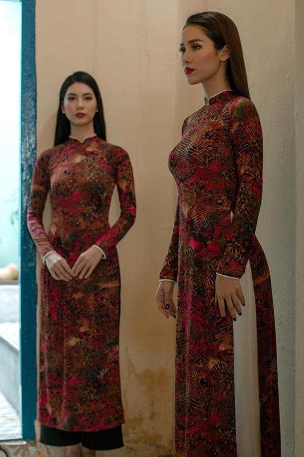 Áo dài in hoạ tiết hoa của nhà thiết kế An Nhiên - 8