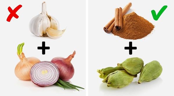 Quế và thảo quảHành tây và tỏi là một trong những thủ phạm hàng đầu gây ra mùi cơ thể. Trong khi đó, quế và thảo quả vừa giúp các món ăn tăng hương vị, vừa giúp giảm mùi khó chịu.