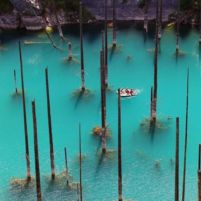 Hồ nước bí ẩn với loại cây mọc ngược dưới đáy - 1