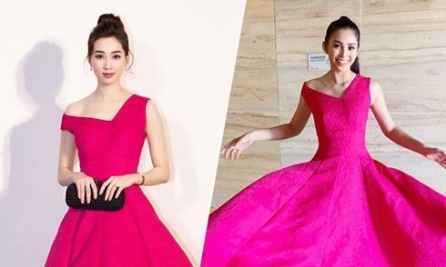 Sao đụng váy tháng 12: Đặng Thu Thảo đẹp mong manh như Tiểu Vy