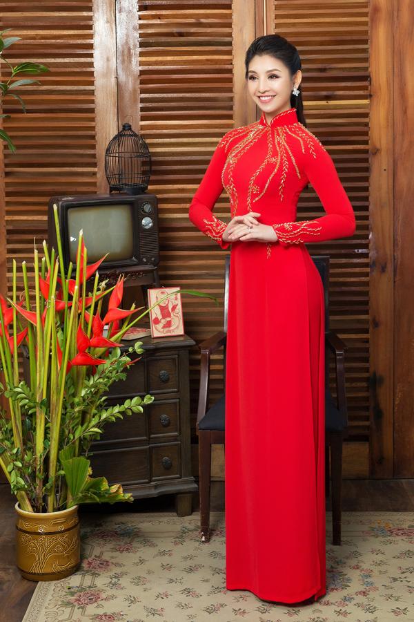 Áo dài tôn dáng cho cô dâu mùa xuân - 4