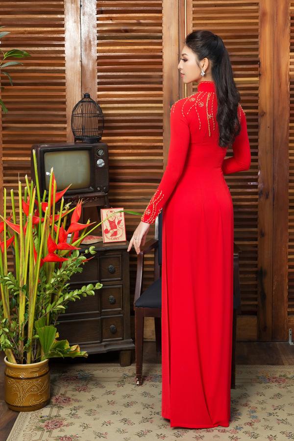 Áo dài tôn dáng cho cô dâu mùa xuân - 5