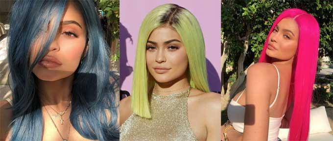 Cô em út nhà Kardashian từng thử đủ các màu nhuộm và dẫn đầu không ít xu hướng.