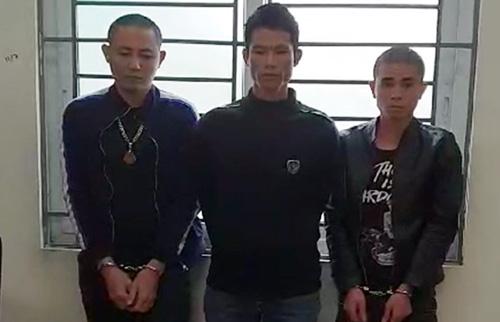 Ba nghi phạm bị bắt giữ. Ảnh: Công an Sơn La.