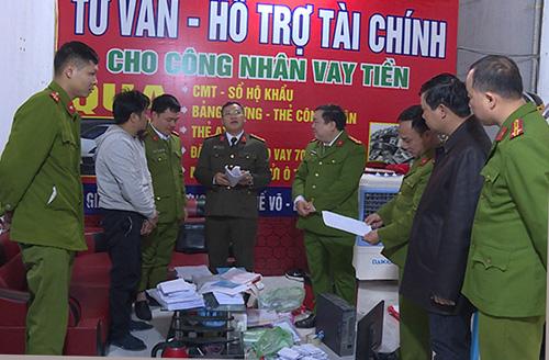 Một cơ sở bị khám xét. Ảnh: Công an Bắc Ninh.