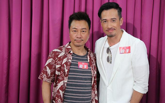 Lê Diệu Tường (trái) và Trần Hào trong buổi họp báo ra mắt dự án phim Sát thủ.