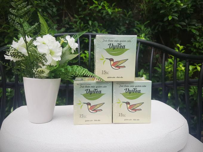 Trà giảm cân Vy&Tea có thành phần từ thảo mộc thiên nhiên.
