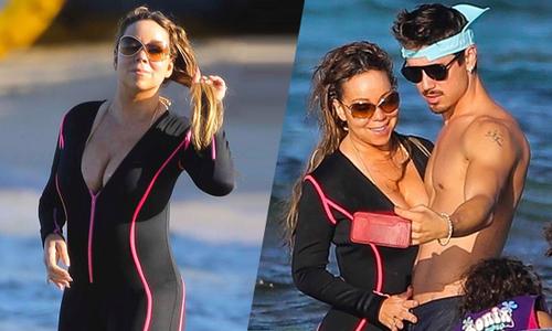 Mariah Carey khoe dáng trên biển bên bồ trẻ