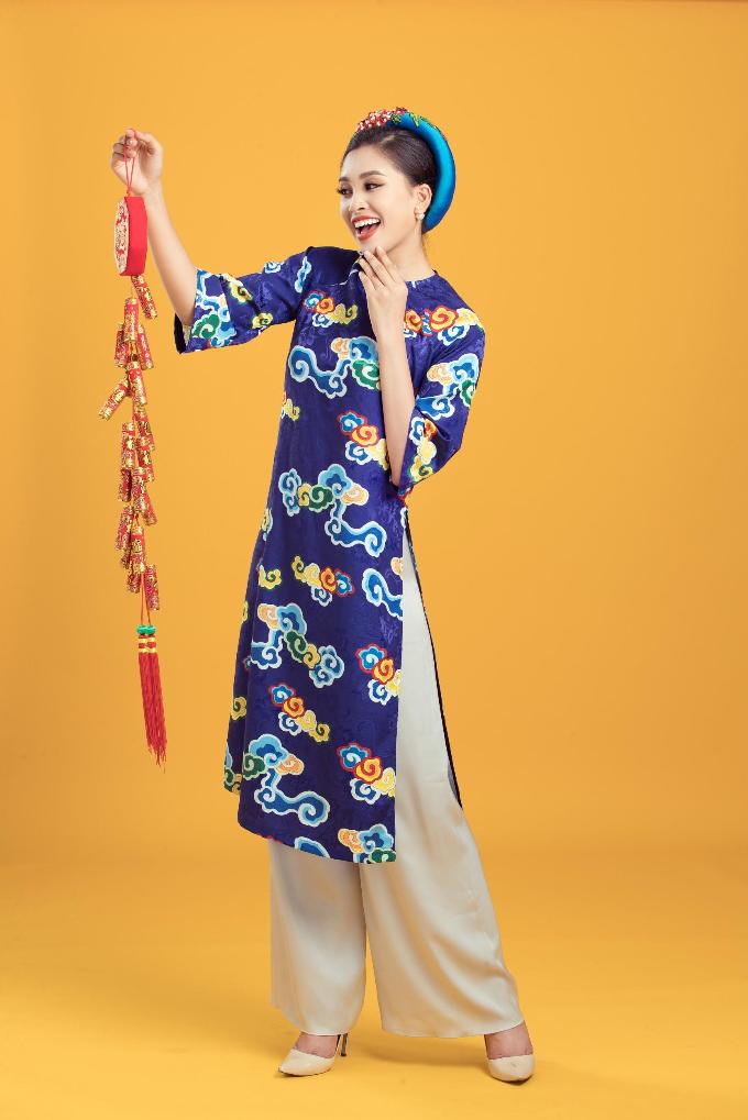 Tiểu Vy gợi ý những mẫu áo dài cách tân cho năm mới - 3