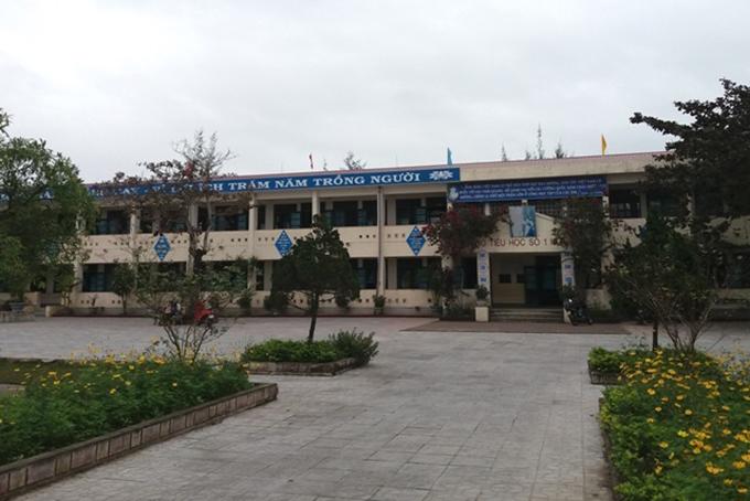 Trường Tiểu học cơ sở số 1 Hồng Thuỷ, nơi xảy ra sự việc. Ảnh: Hà Thương
