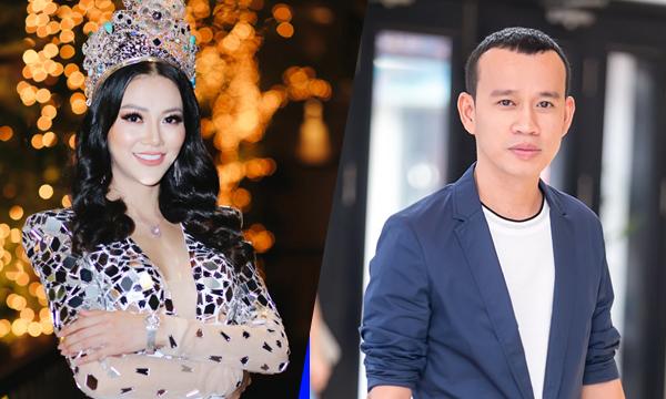 Phương Khánh và ông bầu Phúc Nguyễn.