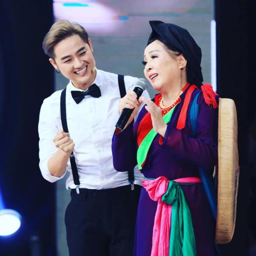 Thanh Duy vui vì được hội ngội NSND Thu Hiền trong một gameshow.