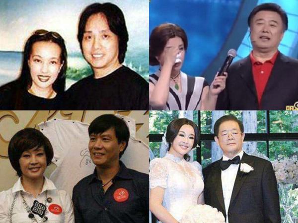 Bốn người chồng của Lưu Hiểu Khánh theo thứ tự từ trái qua phải, trên xuống dưới.
