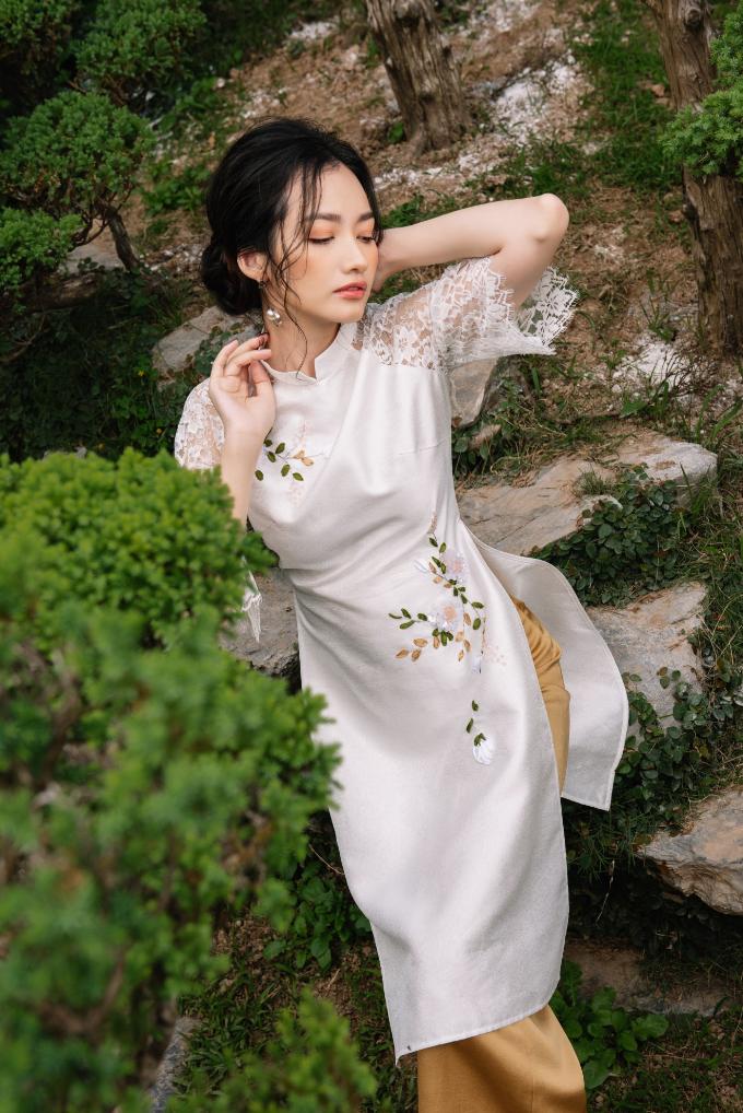 Trúc Diễm tinh khôi với áo dài xuân của NEVA - 7