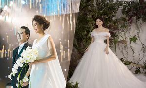 Váy cưới hàng trăm triệu đồng của sao Việt