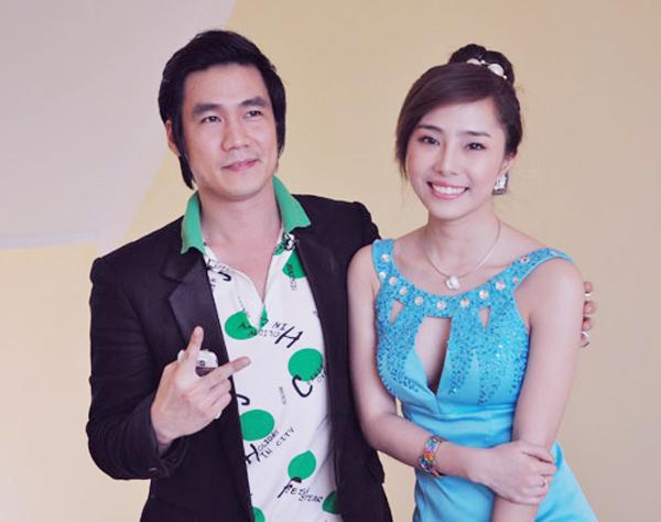 Khánh Phương và Quỳnh Nga khi còn yêu nhau.