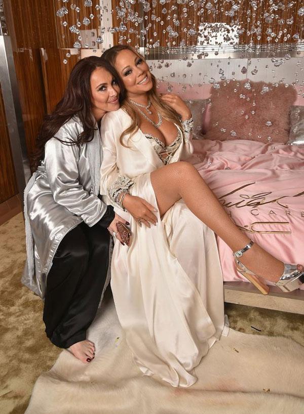 Stella và Mariah khi còn làm việc cùng.