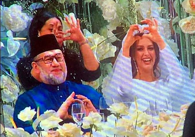 Đám cưới của Muhammad V và Oksana tại ngoại ô Moskva hồi tháng 11/2018. Ảnh: east2west.