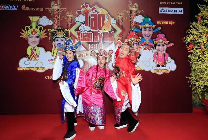 Bộ 3 nhà Táo Xuân Kỷ Hợi 2019 - Chuyện động ông trời gồm Đại Nghĩa, Huỳnh Lập và Khả Như.